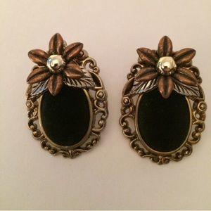 Antique looking costume earrings